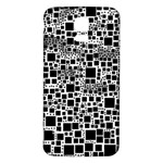 Block On Block, B&w Samsung Galaxy S5 Back Case (White) Front