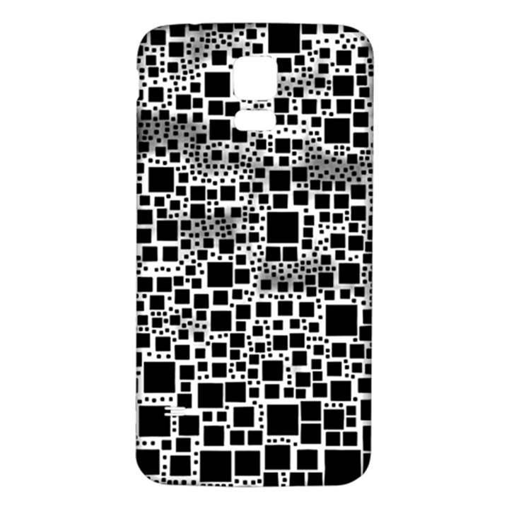 Block On Block, B&w Samsung Galaxy S5 Back Case (White)