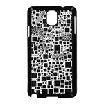 Block On Block, B&w Samsung Galaxy Note 3 Neo Hardshell Case (Black) Front