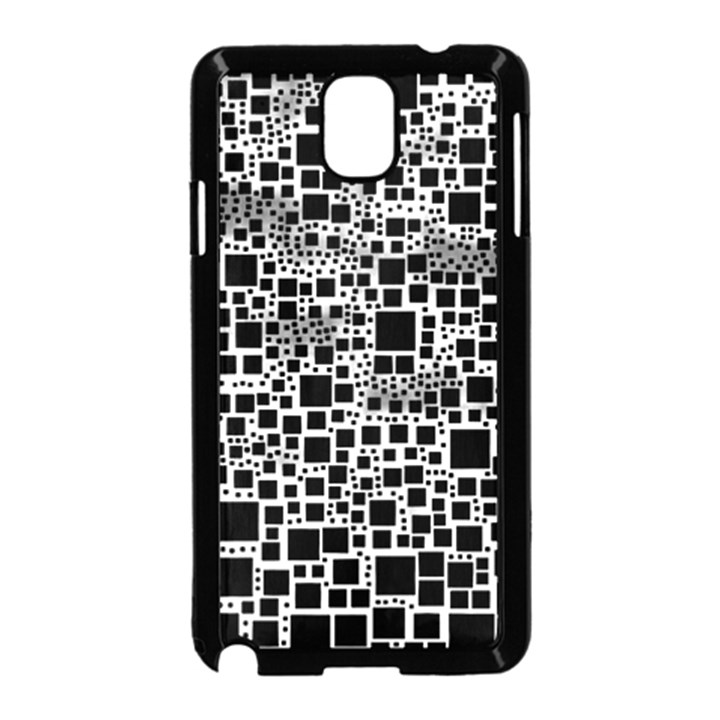 Block On Block, B&w Samsung Galaxy Note 3 Neo Hardshell Case (Black)