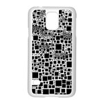 Block On Block, B&w Samsung Galaxy S5 Case (White) Front