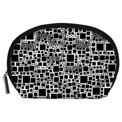 Block On Block, B&w Accessory Pouches (large)