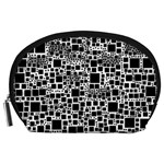 Block On Block, B&w Accessory Pouches (Large)  Front