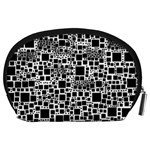 Block On Block, B&w Accessory Pouches (Large)  Back