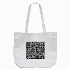 Block On Block, B&w Tote Bag (White)