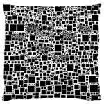 Block On Block, B&w Large Flano Cushion Case (Two Sides) Front