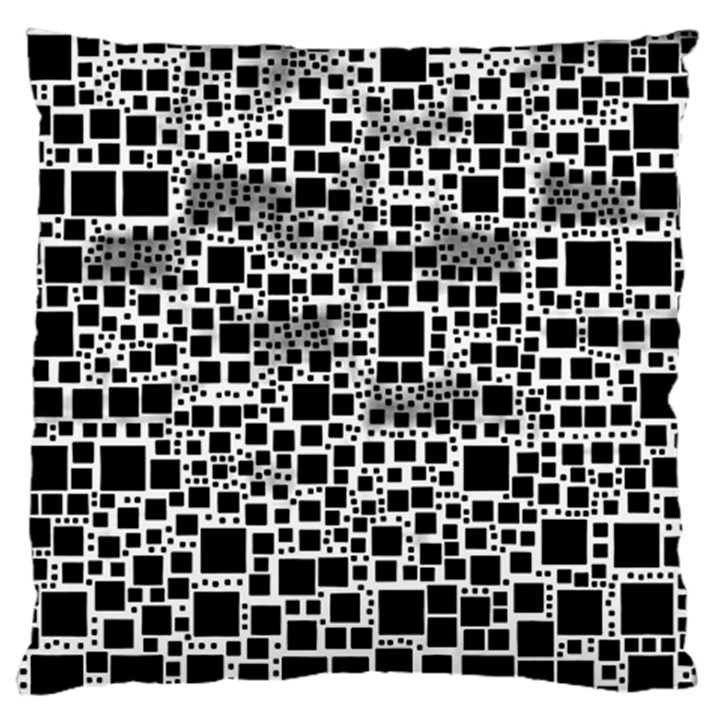 Block On Block, B&w Large Flano Cushion Case (Two Sides)