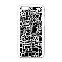 Block On Block, B&w Apple iPhone 6/6S White Enamel Case