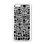 Block On Block, B&w Apple iPhone 6/6S White Enamel Case Front