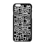 Block On Block, B&w Apple iPhone 6/6S Black Enamel Case Front