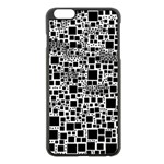 Block On Block, B&w Apple iPhone 6 Plus/6S Plus Black Enamel Case Front