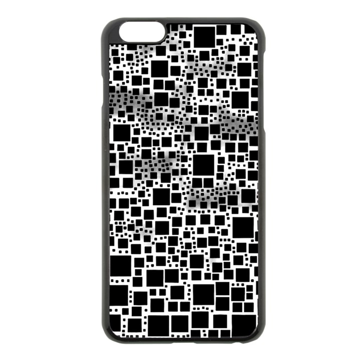 Block On Block, B&w Apple iPhone 6 Plus/6S Plus Black Enamel Case