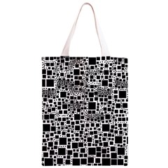 Block On Block, B&w Classic Light Tote Bag