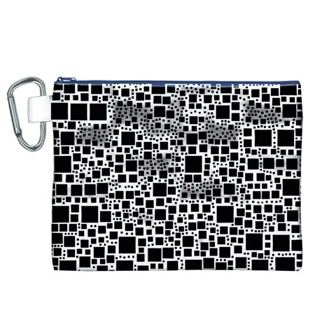 Block On Block, B&w Canvas Cosmetic Bag (XL)