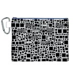 Block On Block, B&w Canvas Cosmetic Bag (XL) Front