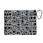 Block On Block, B&w Canvas Cosmetic Bag (XL) Back