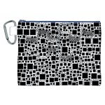 Block On Block, B&w Canvas Cosmetic Bag (XXL) Front