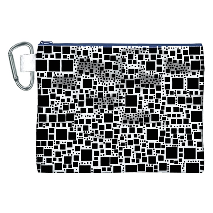 Block On Block, B&w Canvas Cosmetic Bag (XXL)