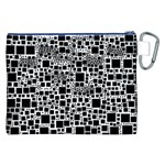 Block On Block, B&w Canvas Cosmetic Bag (XXL) Back