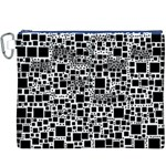 Block On Block, B&w Canvas Cosmetic Bag (XXXL) Front