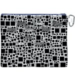 Block On Block, B&w Canvas Cosmetic Bag (XXXL) Back