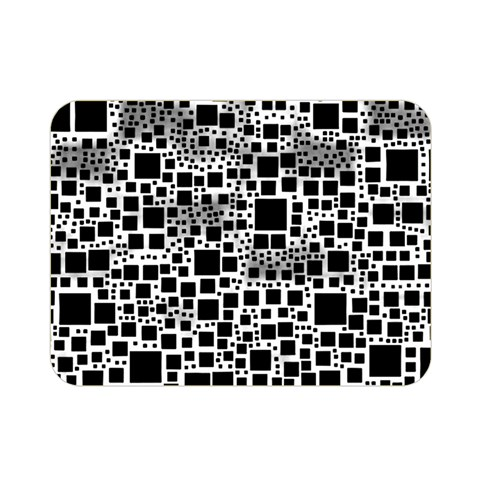 Block On Block, B&w Double Sided Flano Blanket (Mini)