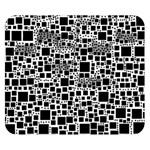 Block On Block, B&w Double Sided Flano Blanket (Small)  50 x40 Blanket Back