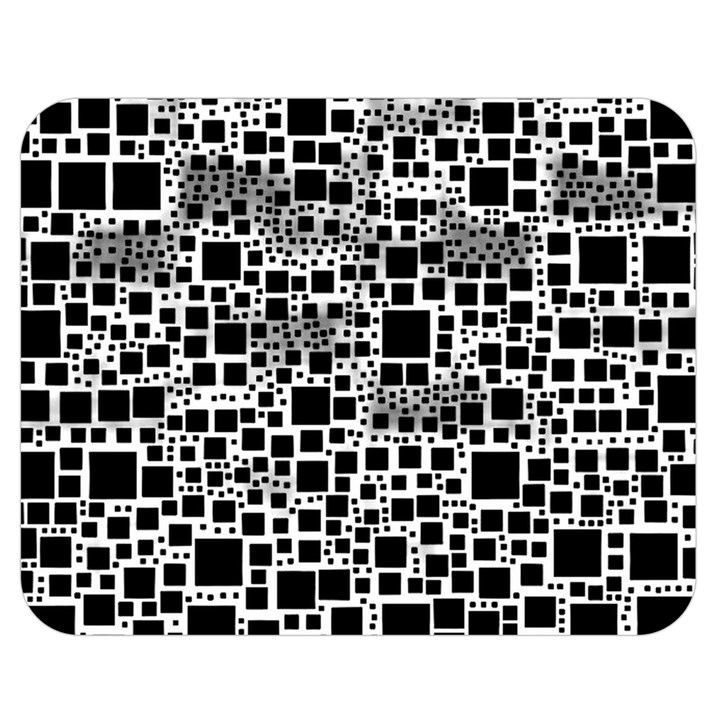 Block On Block, B&w Double Sided Flano Blanket (Medium)