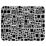 Block On Block, B&w Double Sided Flano Blanket (Medium)  60 x50 Blanket Back