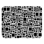 Block On Block, B&w Double Sided Flano Blanket (Large)   Blanket Back
