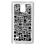 Block On Block, B&w Samsung Galaxy Note 4 Case (White) Front