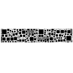 Block On Block, B&w Flano Scarf (Large)