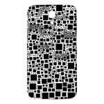 Block On Block, B&w Samsung Galaxy Mega I9200 Hardshell Back Case Front