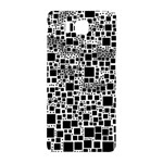 Block On Block, B&w Samsung Galaxy Alpha Hardshell Back Case Front