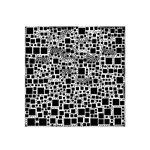 Block On Block, B&w Satin Bandana Scarf Front