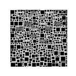 Block On Block, B&w Small Satin Scarf (Square) Front