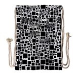Block On Block, B&w Drawstring Bag (Large) Front