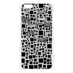 Block On Block, B&w Apple Seamless iPhone 6 Plus/6S Plus Case (Transparent) Front