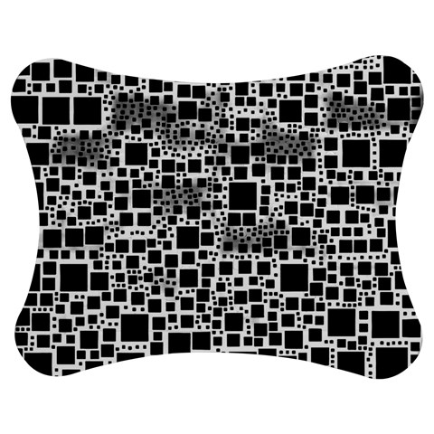 Block On Block, B&w Jigsaw Puzzle Photo Stand (Bow)