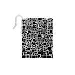 Block On Block, B&w Drawstring Pouches (XS)  Back