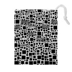 Block On Block, B&w Drawstring Pouches (Extra Large) Front