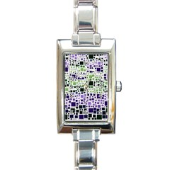 Block On Block, Purple Rectangle Italian Charm Watch