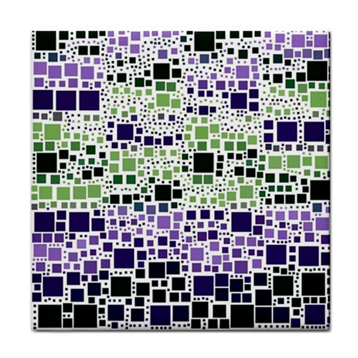 Block On Block, Purple Tile Coasters