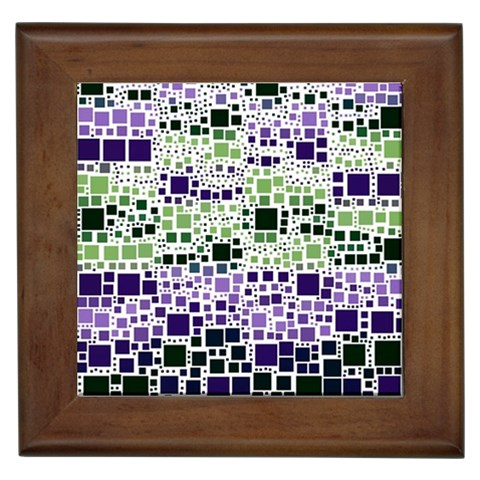 Block On Block, Purple Framed Tiles