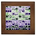 Block On Block, Purple Framed Tiles Front