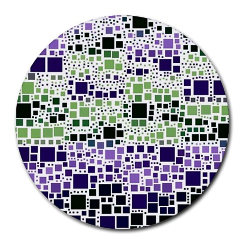 Block On Block, Purple Round Mousepads