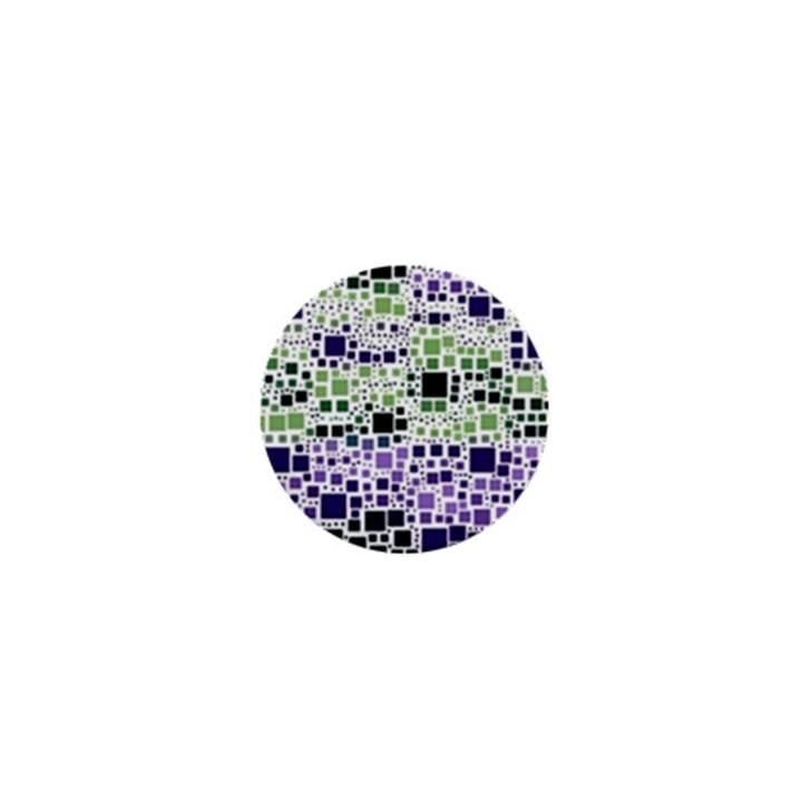 Block On Block, Purple 1  Mini Buttons