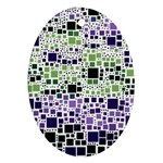 Block On Block, Purple Ornament (Oval)  Front