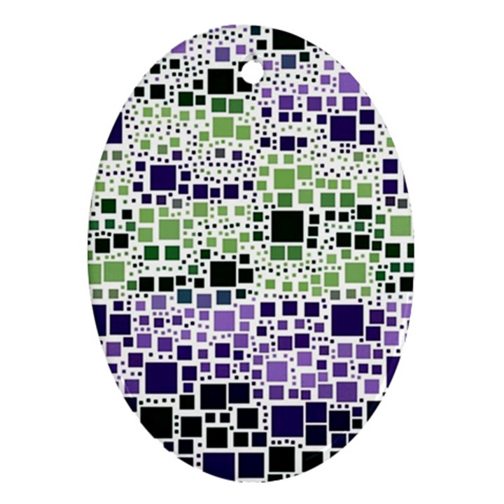 Block On Block, Purple Ornament (Oval)