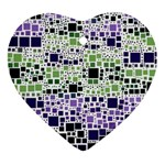Block On Block, Purple Ornament (Heart)  Front